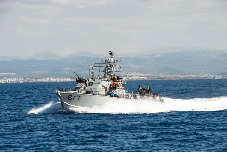 Navy vessel participates in the exercise (Photo: IDF Spokesman)