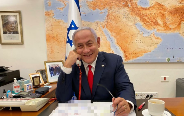 בנימין נתניהו משוחח עם נשיא ארה''ב ג'ו ביידן (צילום: ללא קרדיט)