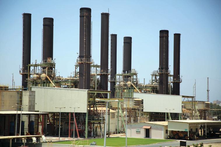 תחנת כוח בעזה (צילום: חסן ג'די, פלאש 90)