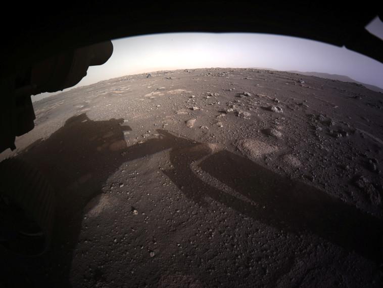 אדמת מאדים ממצלמת הגשושית פרסוורנס (צילום: NASA/JPL-Caltech/Handout via REUTERS)