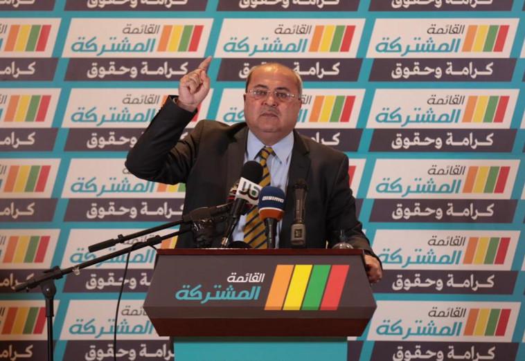 אחמד טיבי (צילום: תקשורת הרשימה המשותפת)