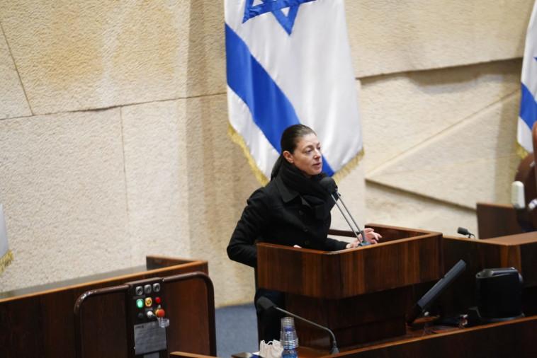 מרב מיכאלי במליאת הכנסת (צילום: דני שם טוב, דוברות הכנסת)