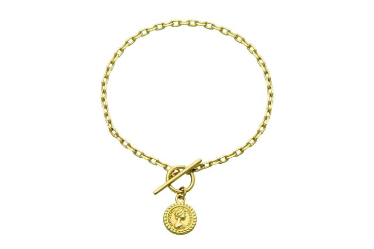 מגנוליה - צמיד מטבע זהב - 149 שקלים (צילום: אפרת אלון שמרי)