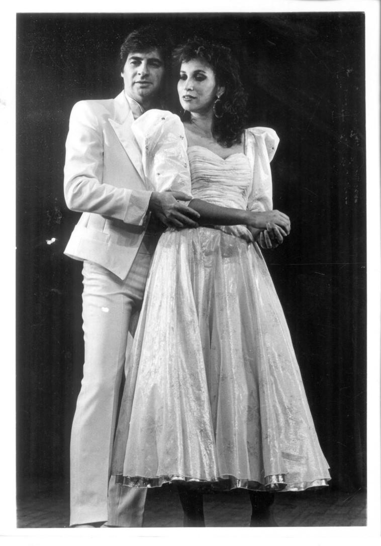 קדם אירוויזיון 1986, שרי צוריאל ומוטי גלעדי (צילום: שמואל רחמני)