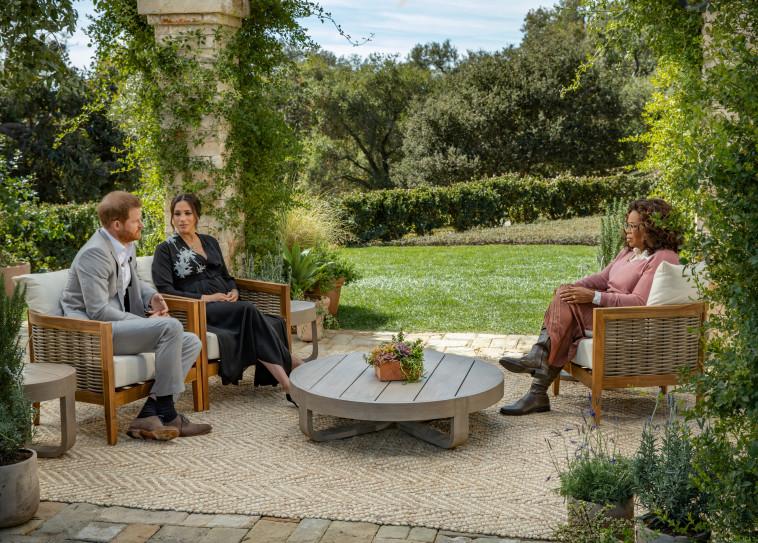 הנסיך הארי ומייגן מרקל בריאיון עם אופרה ווינפרי (צילום: רויטרס)