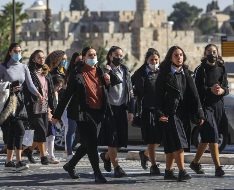 נשים ברחובות ירושלים לאחר היציאה מהסגר השלישי (צילום: מרק ישראל סלם)