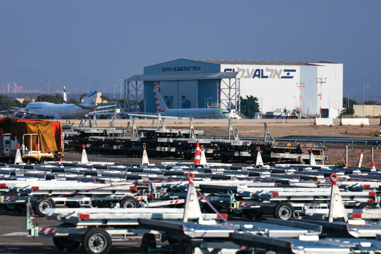 נמל התעופה בן גוריון בזמן הקורונה (צילום: אוליבייה פיטוסי, פלאש 90)