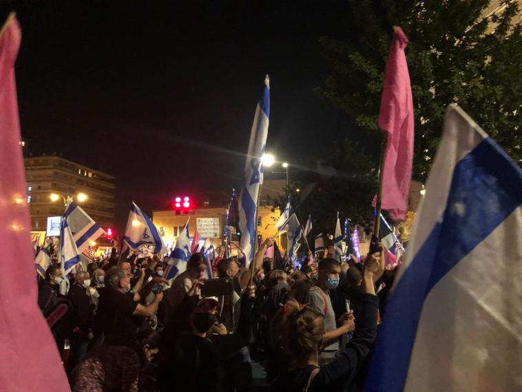 הפגנה נגד נתניהו (צילום: באדיבות התנועה לאיכות השלטון)