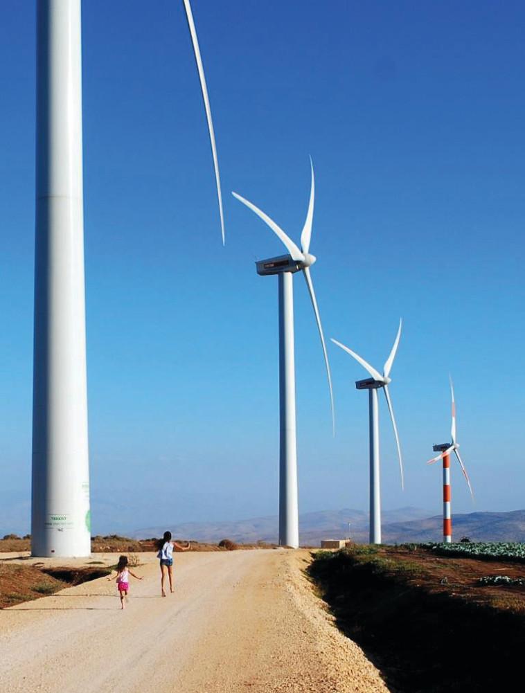 חוות הרוח מעלה גלבוע (צילום: חוות הרוח יח''צ)