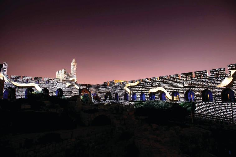 מופע המלך דוד (צילום: נפתלי הילגר)