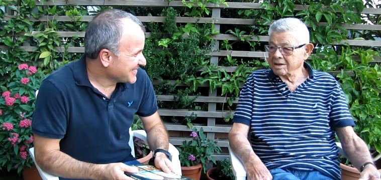 אורי רותם ומנחם תלמי, מתוך הסרט (צילום: צילום מסך)
