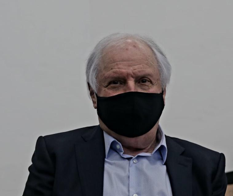 שאול אלוביץ' בבית המשפט (צילום: פול אורן בן חקון)