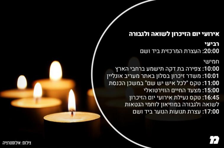 אירועי יום הזיכרון לשואה ולגבורה (צילום: ללא)