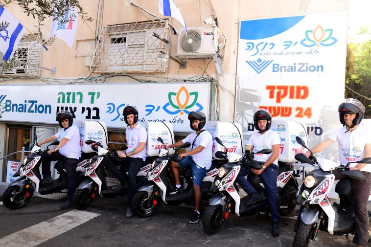 יחידת האופנוענים של יד עזר לחבר  (צילום: אוקסנה שלומוב)