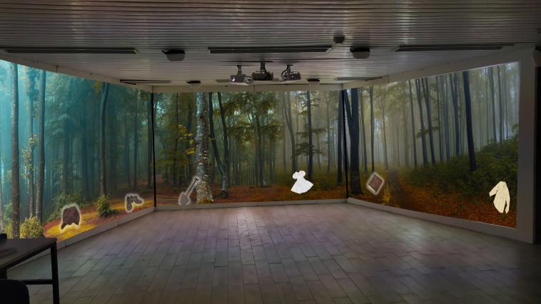 חדר יער להמחשה (צילום: אורי מלמד)