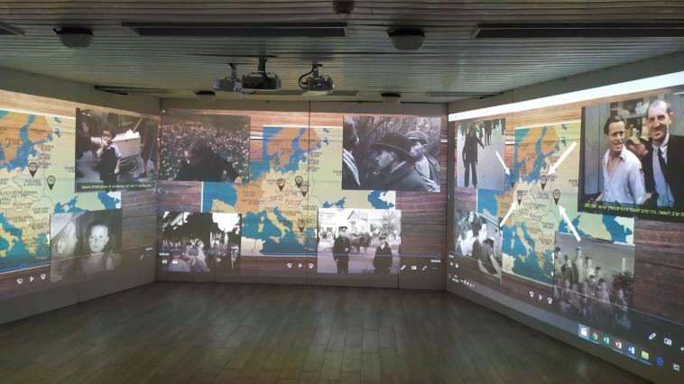 החדר להנצחת השואה בבית הספר מקיף ח' באשדוד (צילום: אורי מלמד)