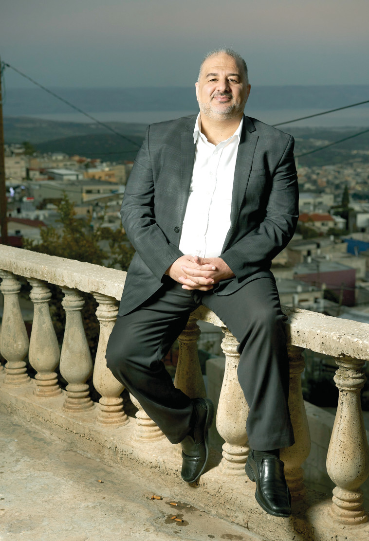 מנסור עבאס, יו''ר מפלגת רע''מ (צילום: רמי זרינגר)
