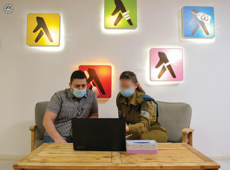 אלכסיי מיכאלוב וסמר א' (צילום: באדיבות דובר צה''ל)