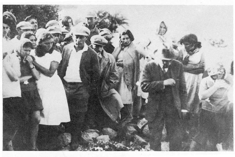 זלמן שזר מספיד את רחל  (צילום: אורי מילשטיין)