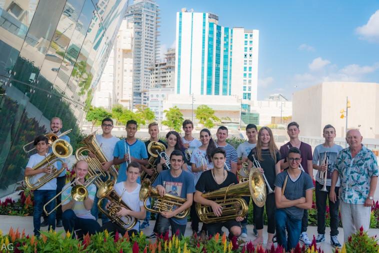 התזמורת הייצוגית לכלי נשיפה של קונסרבטוריון אקדמא באשדוד (צילום: אקדמא)