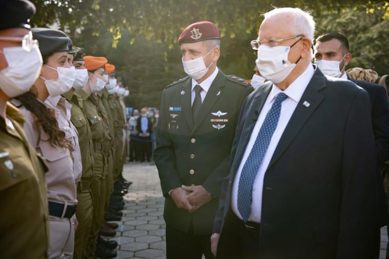 ריבלין וכוכבי בטקס מצטייני הנשיא (צילום: דובר צה''ל)