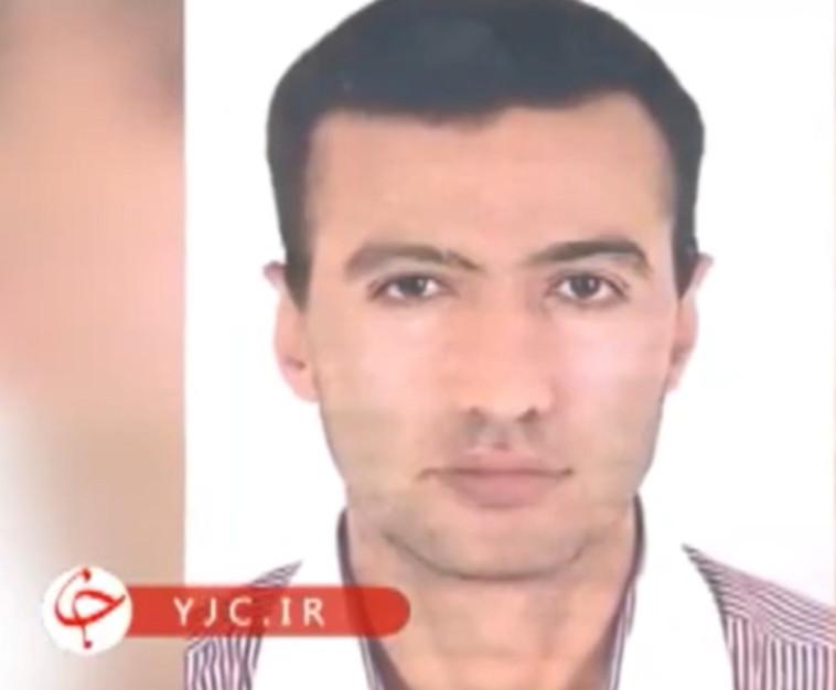 רזא כרימי, אזרח איראני החשוד בפגיעה במתקן הגרעין בנתנז (צילום: צילום מסך מתוך הטלוויזיה האיראנית)