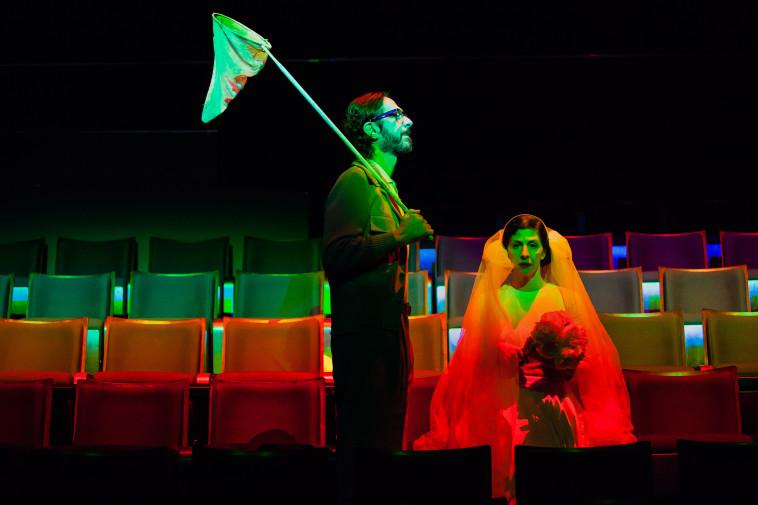 דמידוב ובן צור בהצגה (צילום: ישעיה פיינברג)
