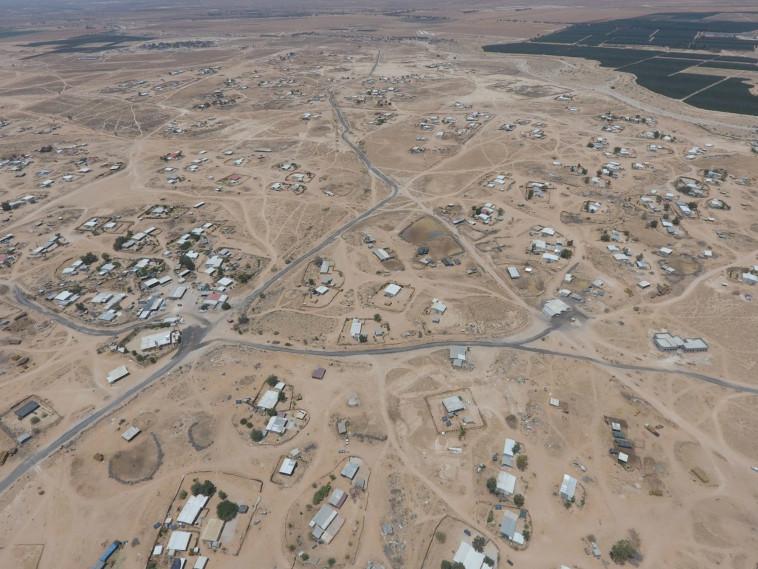הכפר ביר הדאג', ששמו נקשר למקרי פשיעה רבים (צילום: עמותת רגבים)