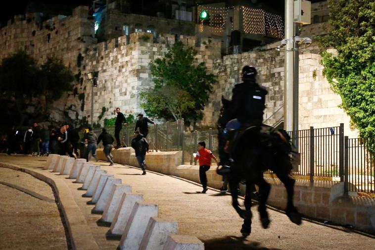 הפרות הסדר בירושלים (צילום: ג'מאל עוואד, פלאש 90)
