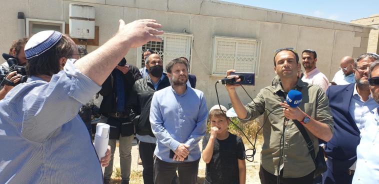 סמוטריץ' במהלך הסיור בירושלים (צילום: באדיבות הציונות הדתית)