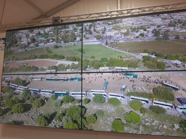 תיעוד חמ''ל משרד התחבורה במירון (צילום: משרד התחבורה)