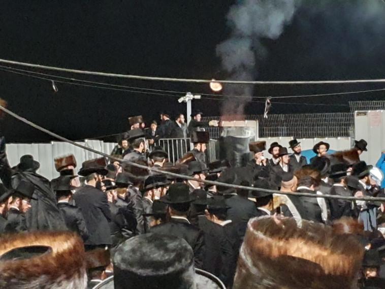האחים משה ויוסף אלחדד הובאו למנוחות בצפת (צילום: לייבי ש'צרנסקי)