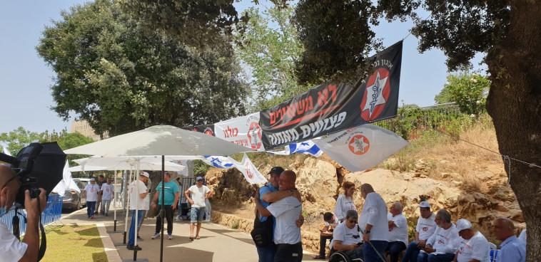 מאהל המחאה מול כנסת ישראל (צילום: דוברות ארגון נכי צה''ל)