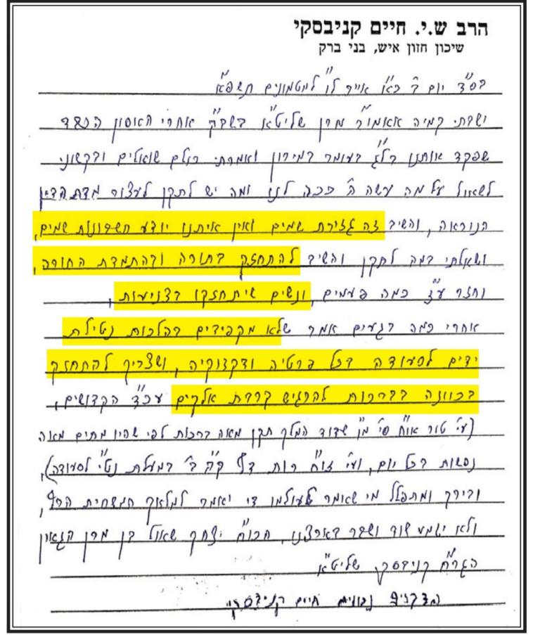 התייחסתו של הרב קנייבסקי לאסון מירון (צילום: צילום מסך)