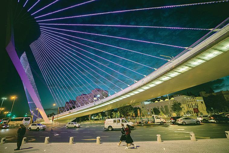 גשר המיתרים (צילום: יונתן זינדל, פלאש 90)