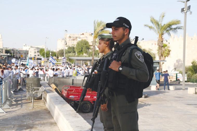 היערכות המשטרה לקראת יום ירושלים (צילום: דוברות המשטרה)