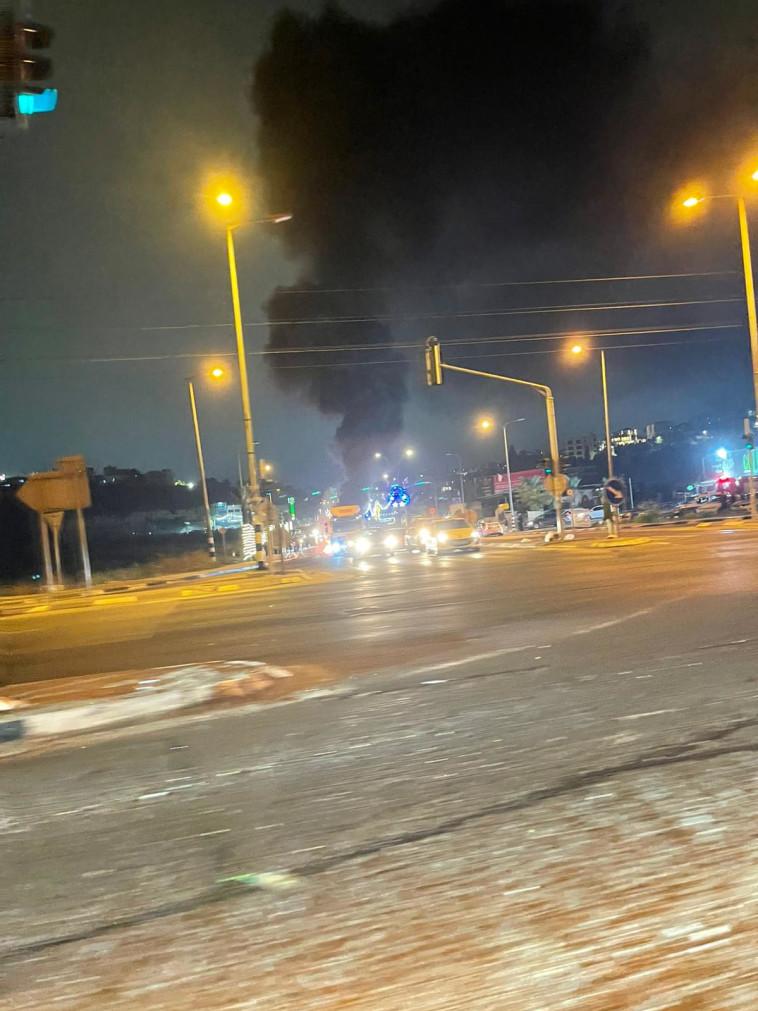 הצתות באזור אום אל פאחם (צילום: אליאב בטיטו)