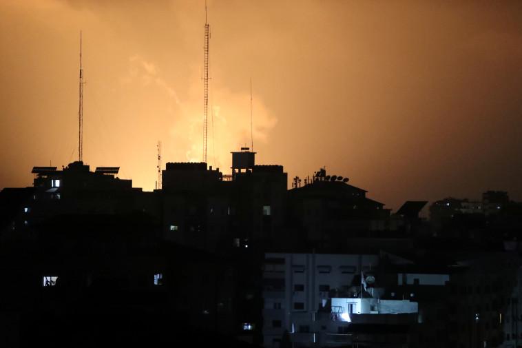 תקיפה של צה''ל ברצועת עזה (צילום: רויטרס)