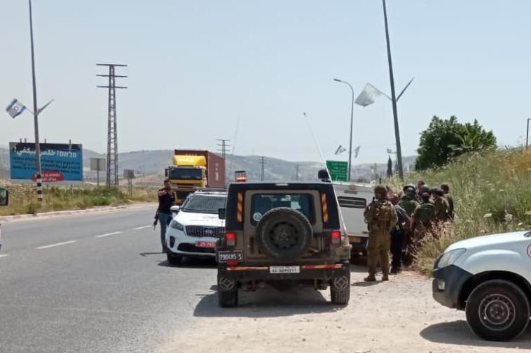 זירת ניסיון הפיגוע בשומרון (צילום: TPS) (צילום: TPS)