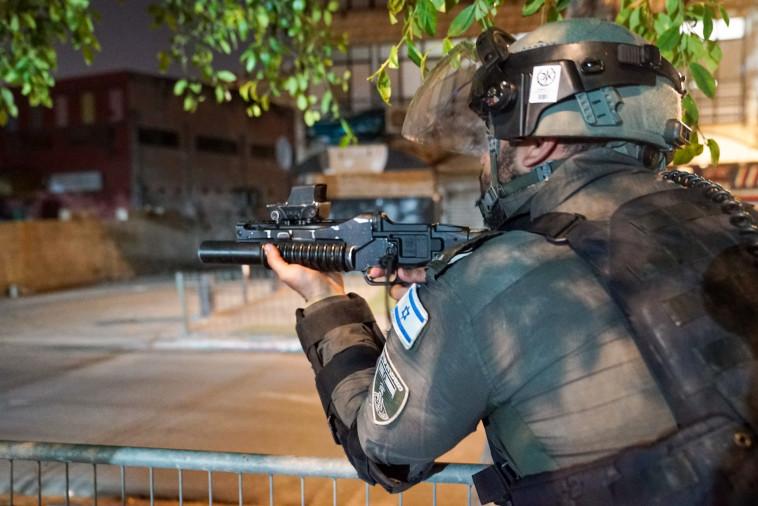 לוחם מג''ב בלוד (צילום: משטרת ישראל)