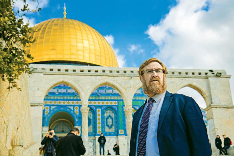 יהודה גליק בהר הבית (צילום: שרון גבאי)