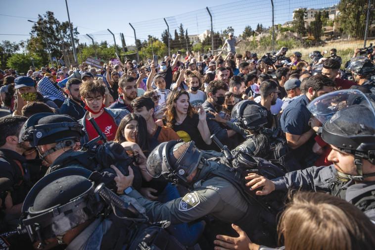 המהומות בשייח' ג'ראח (צילום: יונתן זינדל פלאש 90)