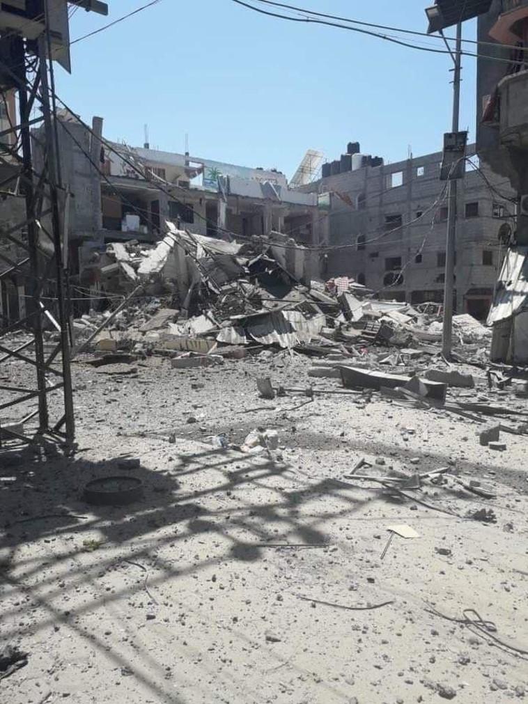 הרס ברצועת עזה מהתקפת צה''ל (צילום: ללא)