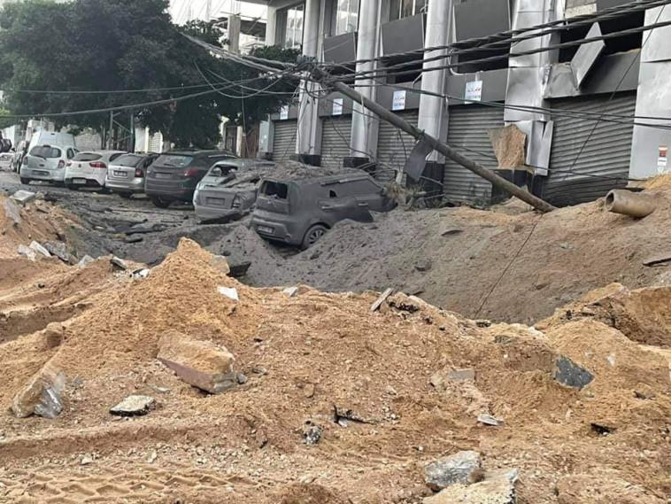 הרס בעזה (צילום: רשתות ערביות)