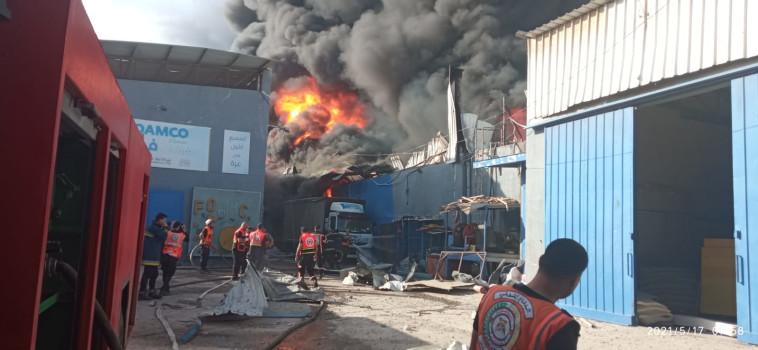 תיעוד מההפצצות בעזה (צילום: רשתות ערביות)