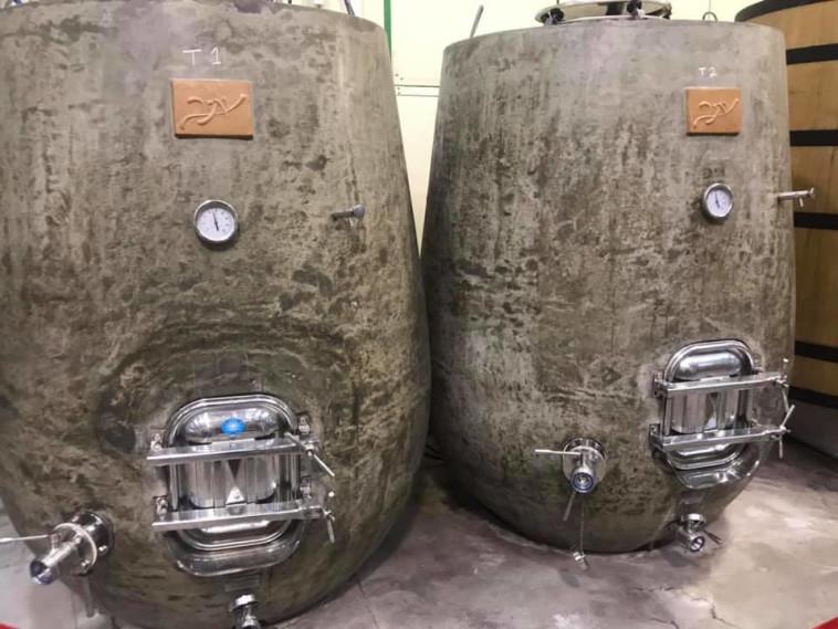 יקב יתיר - מכלי בטון  (צילום: סנהדרינק)