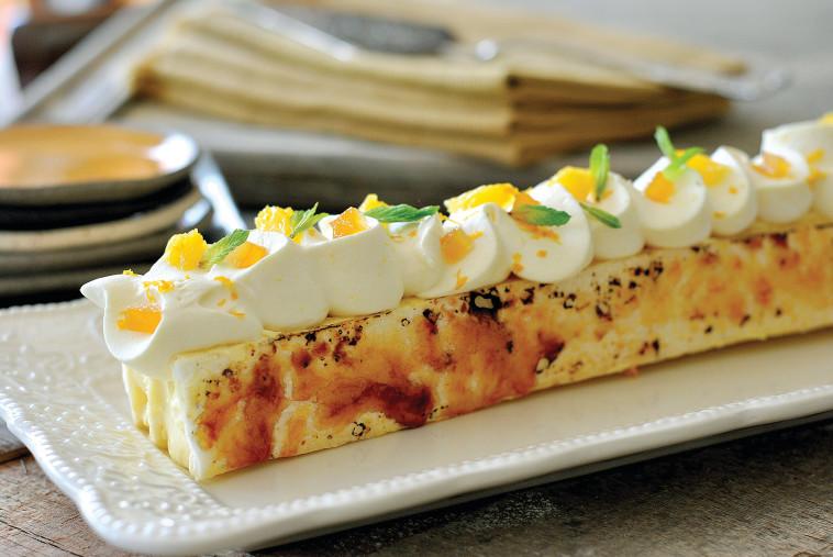 עוגת קרמשניט תפוז (צילום: פסקל פרץ-רובין)