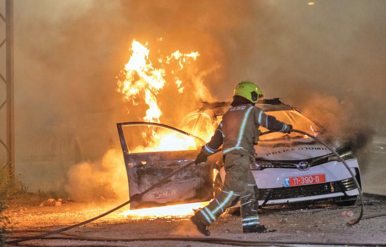 המהומות בלוד  (צילום: יוסי אלוני, פלאש 90)