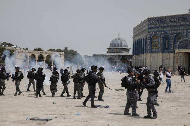 מהומות בהר הבית (צילום: ג'מאל עוואד, פלאש 90)