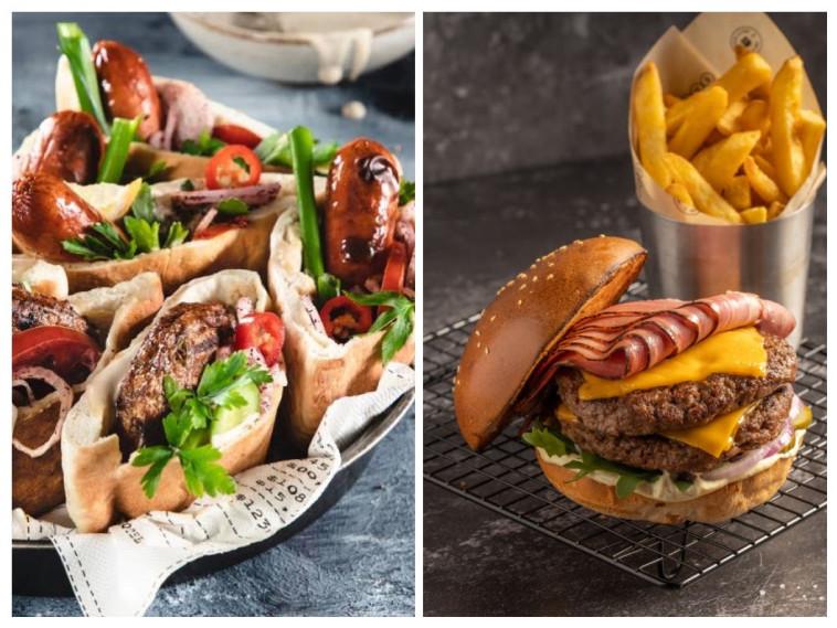 מימין: ספיישל ניו יורק, משמאל: המבורגרים צמחוניים של טבעול (צילום: סטודיו מרחב,נתנאל ישראל)